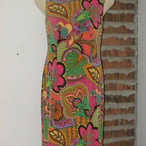 Joseph Ribkoff Dress Multi Color Lined 10 Floral